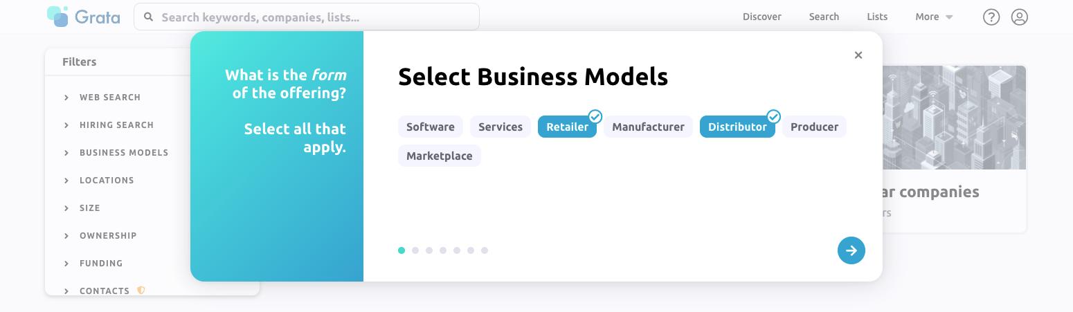 Business model data