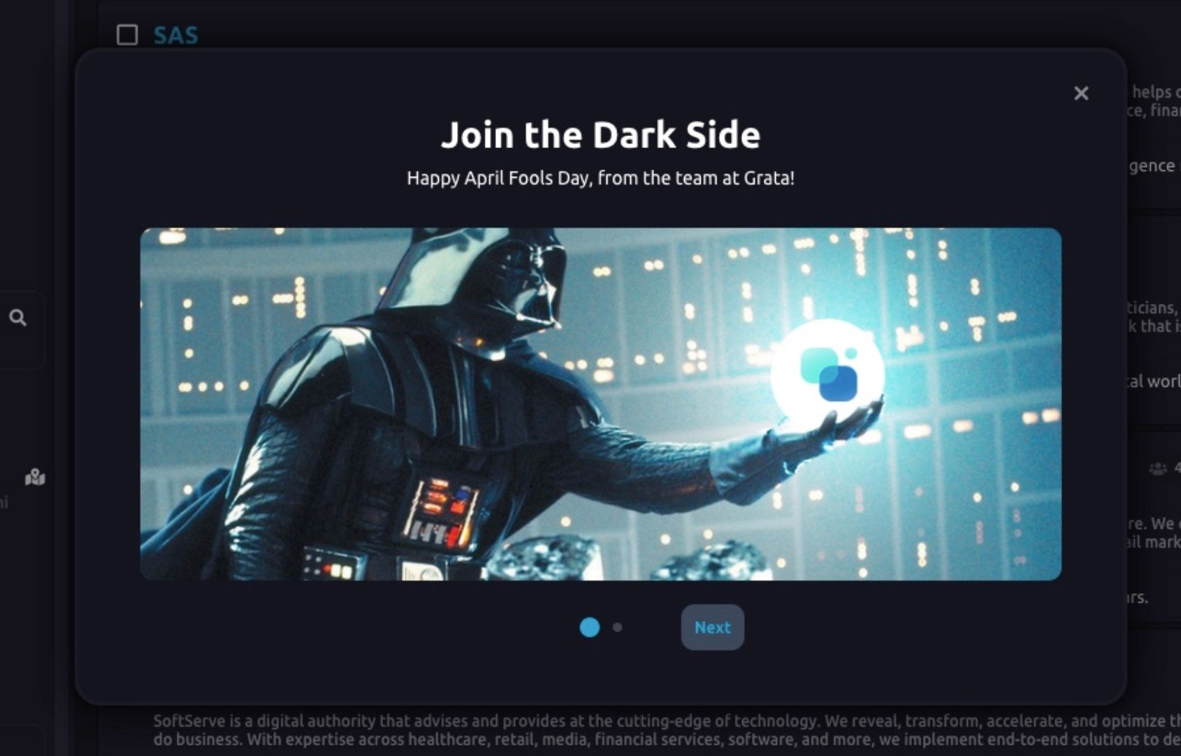 """Join the Dark Side"" by Darth Vader"