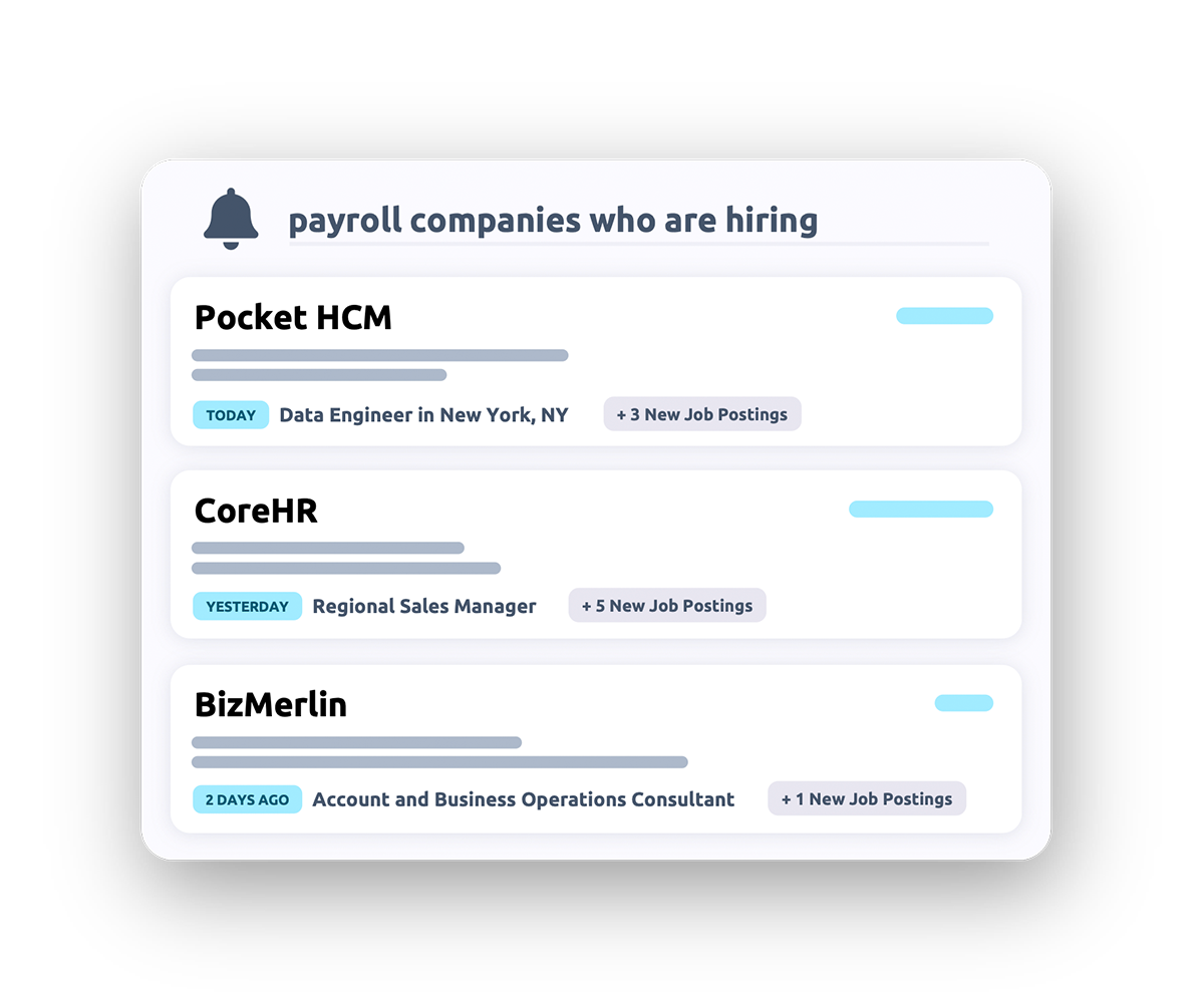 Payroll companies who are hiring