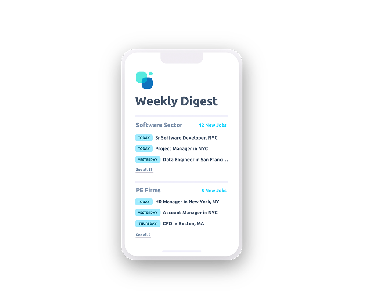 Weekly digest email